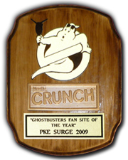 Winner of the Best Ghostbusters Website 2009
